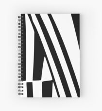 White and Black Thin Dazzle Spiral Notebook