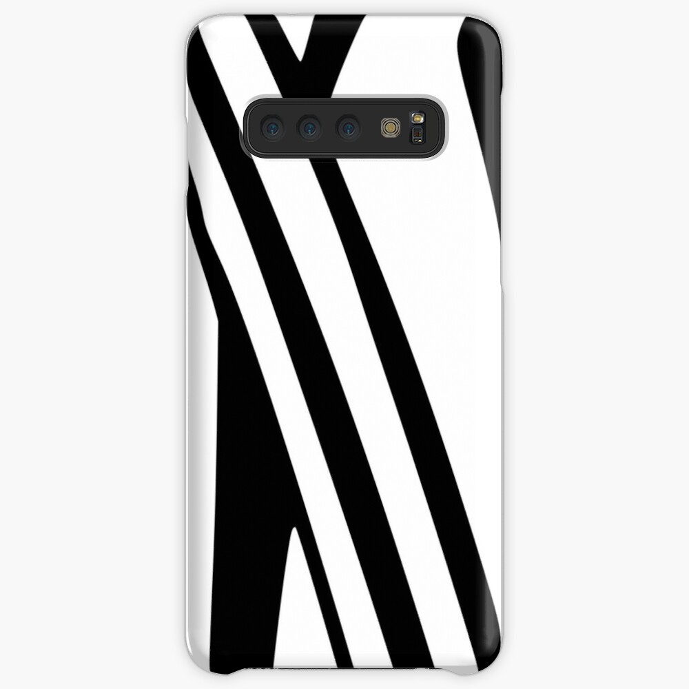 White and Black Thin Dazzle Case & Skin for Samsung Galaxy