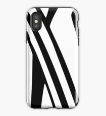 White and Black Thin Dazzle iPhone Case