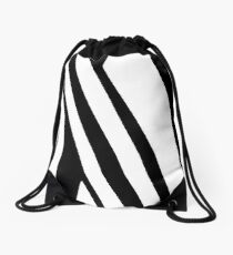 White and Black Thin Dazzle Drawstring Bag