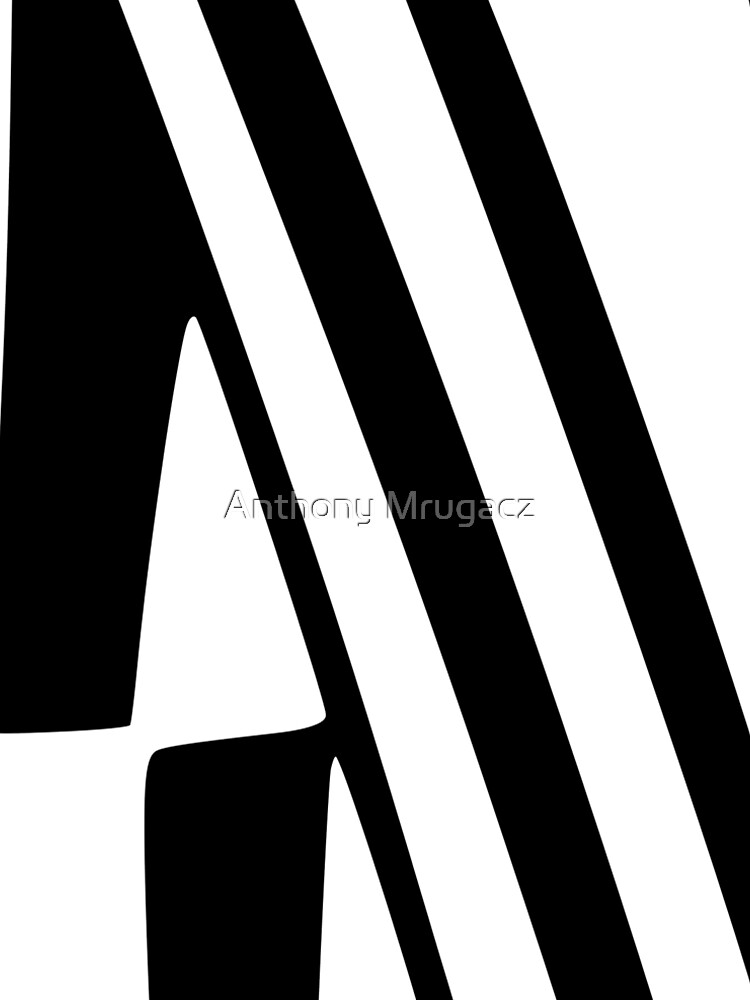 White and Black Thin Dazzle by AD1959MRUGACZ