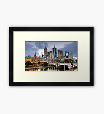 Melbourne @ Dusk Framed Print