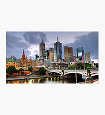 Melbourne @ Dusk Photographic Print