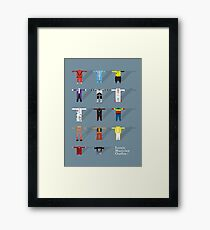Iconic Musician Outfits Framed Print