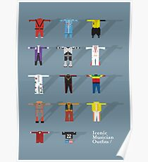 Iconic Musician Outfits Poster