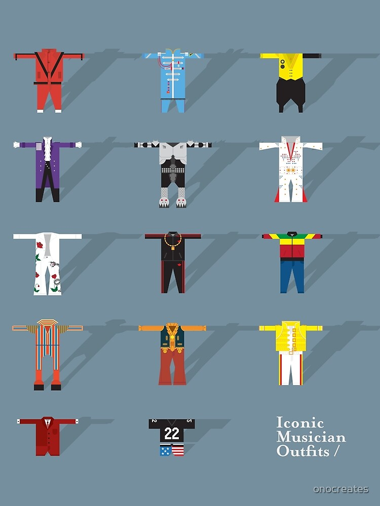 Iconic Musician Outfits by onocreates