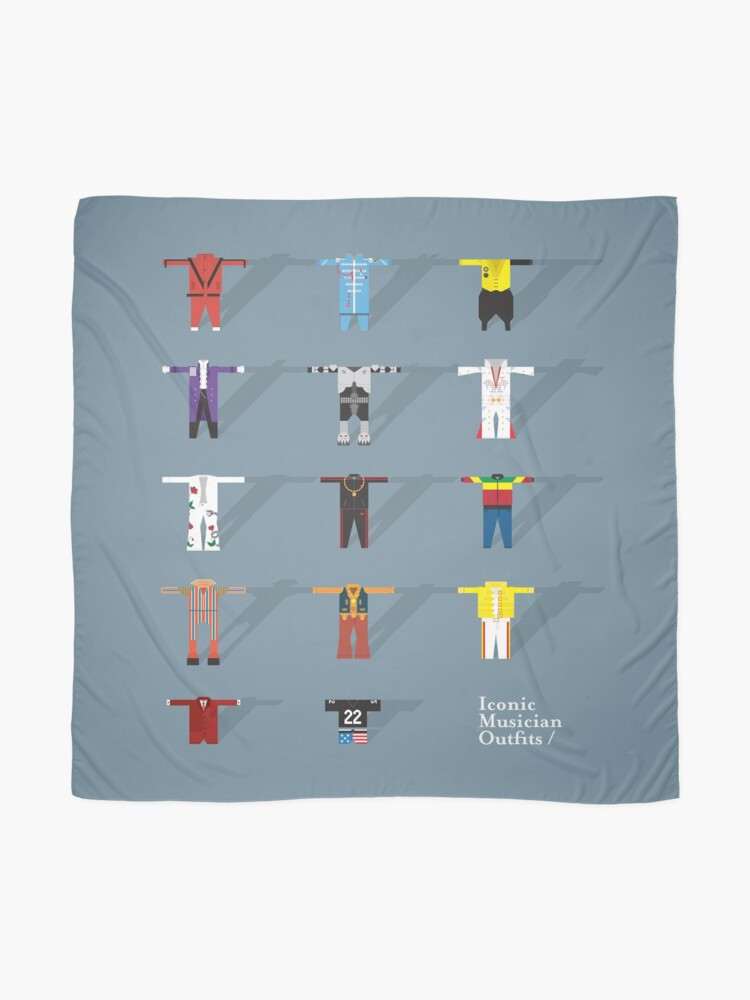 Alternate view of Iconic Musician Outfits Scarf