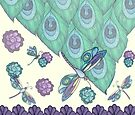 Dragonfly Floral Design by EverIris