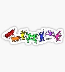 Keith Haring Pride Party Sticker