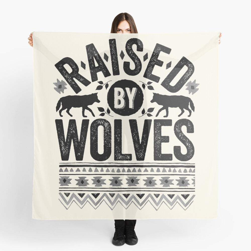 Raised By Wolves {Black + White} Scarf