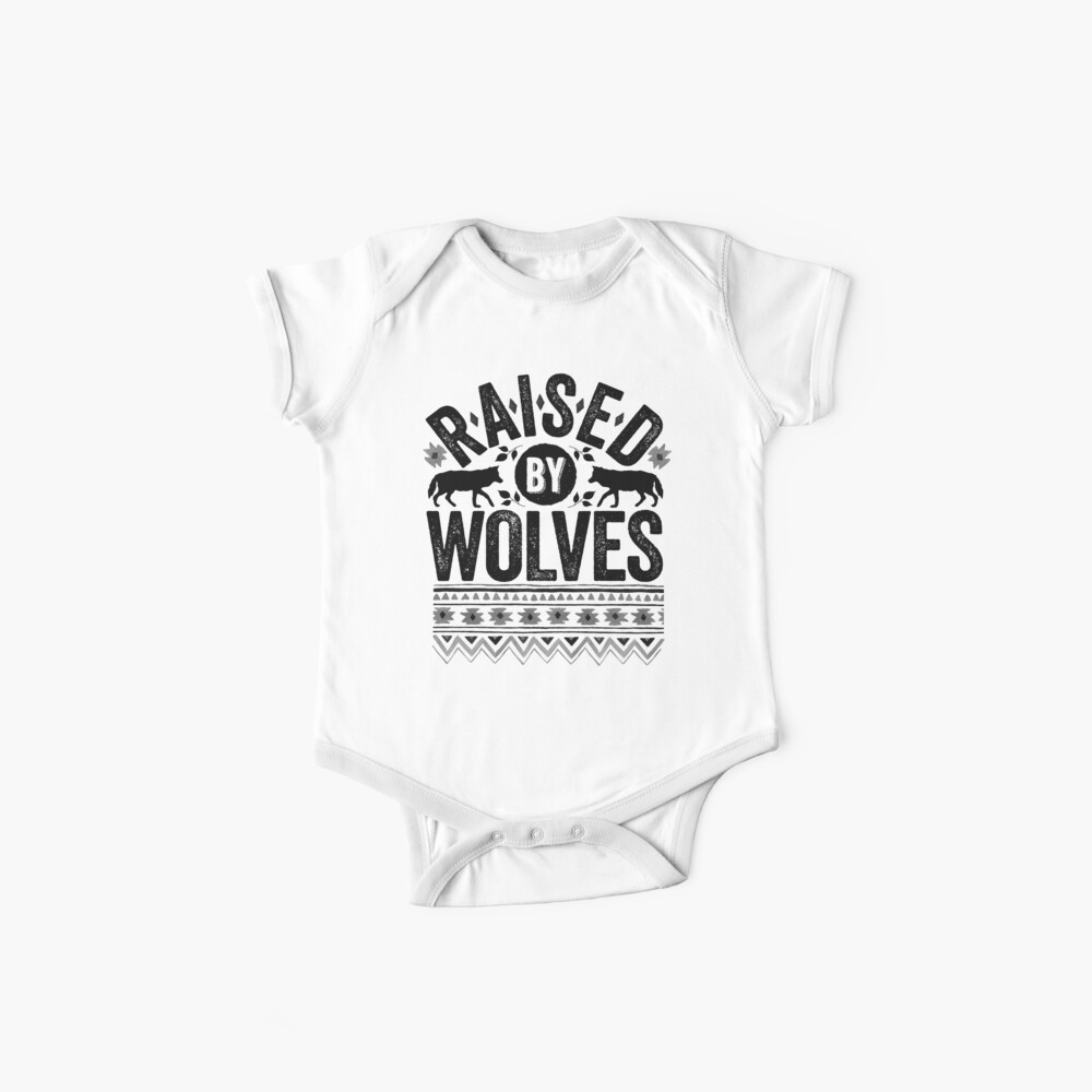 Raised By Wolves {Black + White} Baby One-Piece