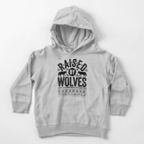Raised By Wolves {Black + White} Toddler Pullover Hoodie