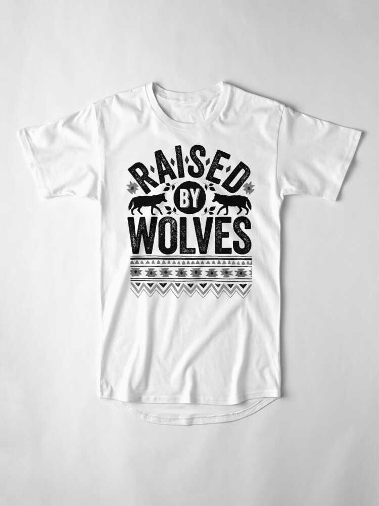 Alternate view of Raised By Wolves {Black + White} Long T-Shirt