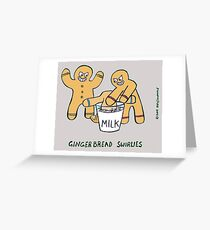 gingerbread bullies Greeting Card