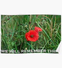 REMEMBERANCE DAY POPPY Poster