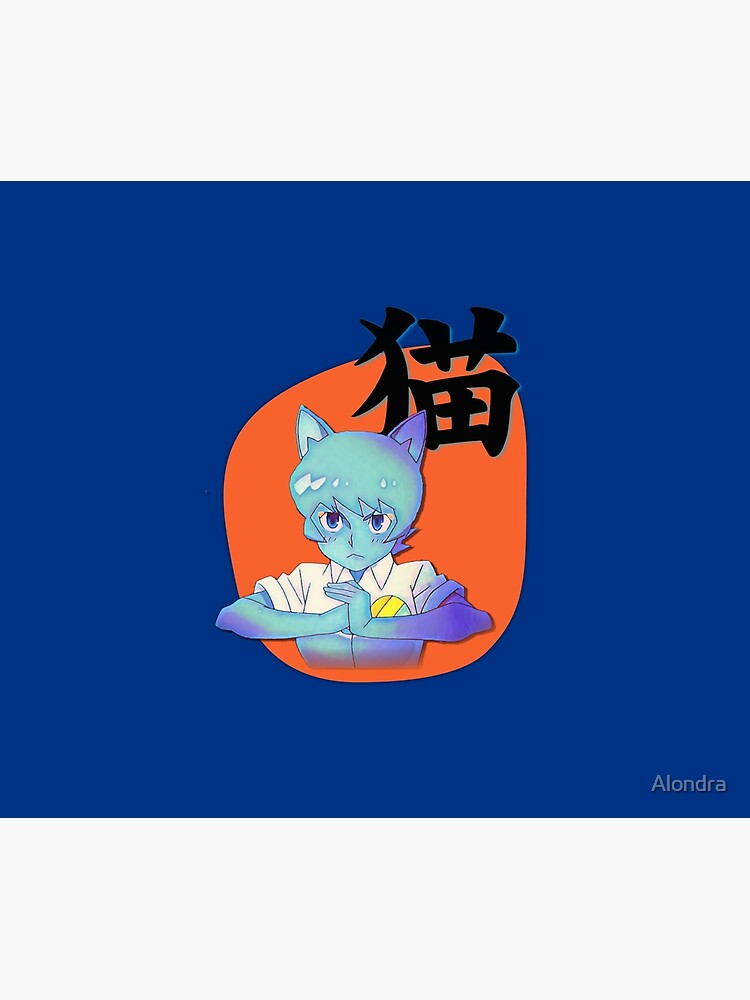Anime Nicole with Cat in Japanese, Amazing world of Gumball by Alondra