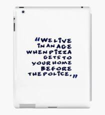 funny idea and slogan text iPad Case/Skin