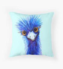 QUIRKY EMU  Throw Pillow