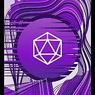 Lila Glitch Polyhedral D20 Würfel Tabletop RPG von pixeptional