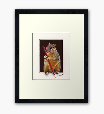 The Scribe Framed Print
