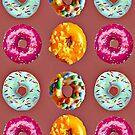 Donuts auf braun von Yamy Morrell  Art and Design