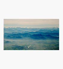 mountains in your memory appear closer than they are Photographic Print
