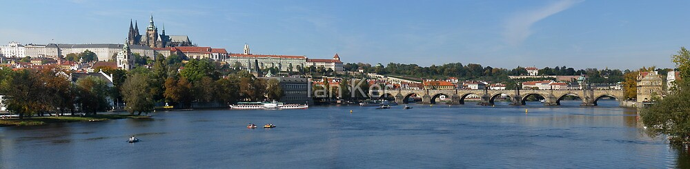 Historic Panorama in Prague by Ian Ker