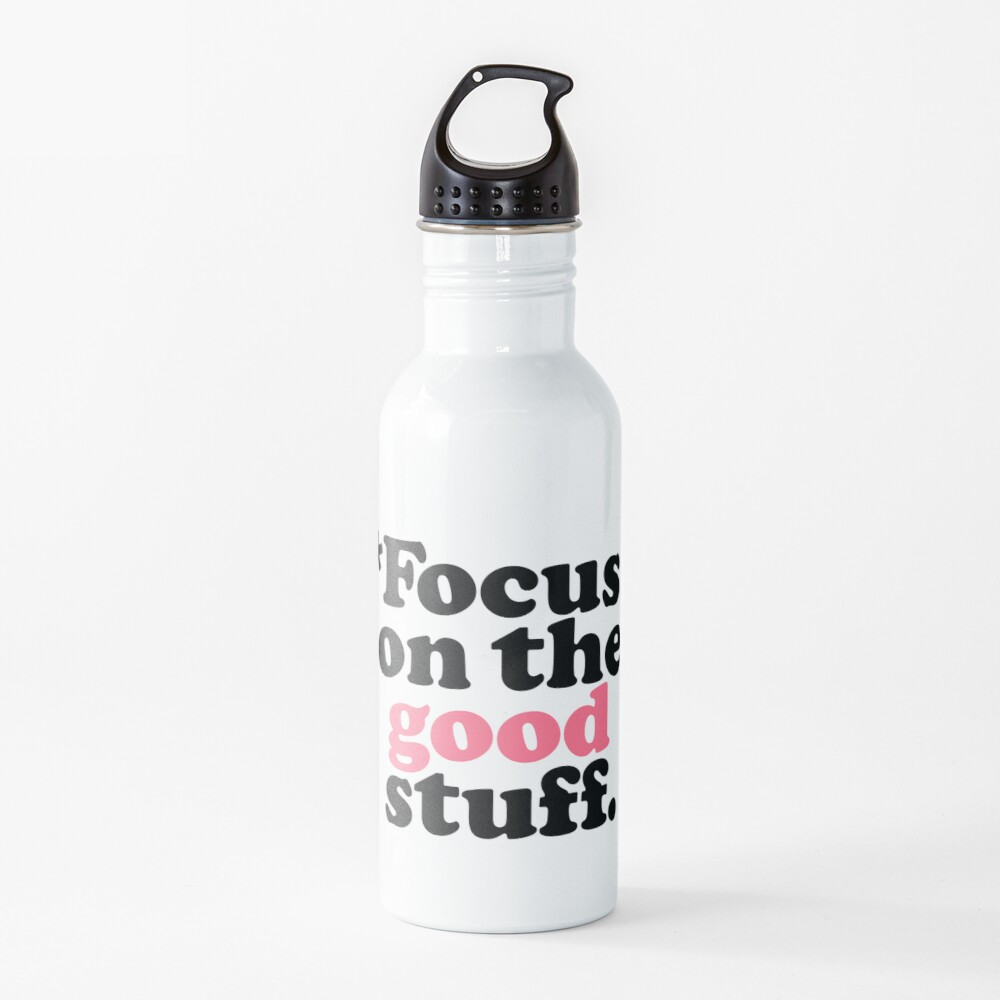Focus On The Good Stuff {Pink & Red Version} Water Bottle