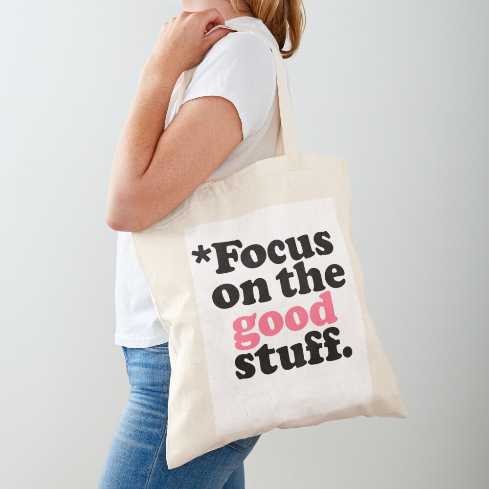 Focus On The Good Stuff {Pink & Red Version} Tote Bag