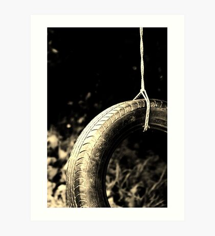 Tire Swing 2 Art Print