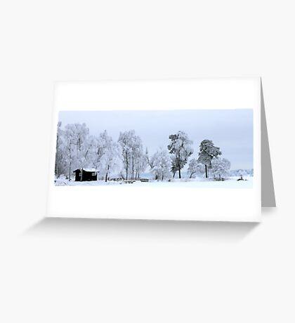 Winter landscape - Sweden Greeting Card