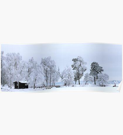 Winter landscape - Sweden Poster