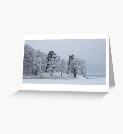 Deep cold trees Greeting Card