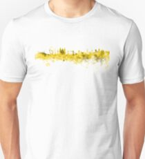 London skyline in yellow watercolor on white background Unisex T-Shirt