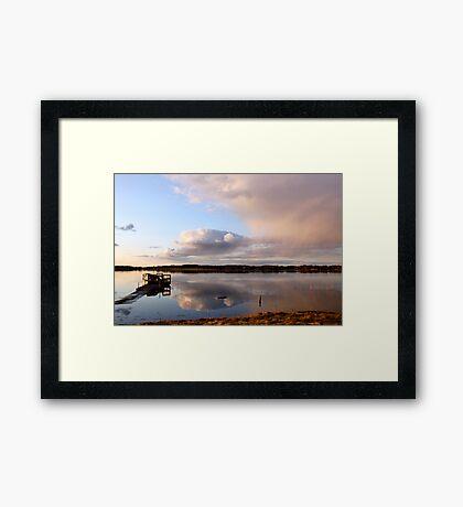 April serenity Framed Print