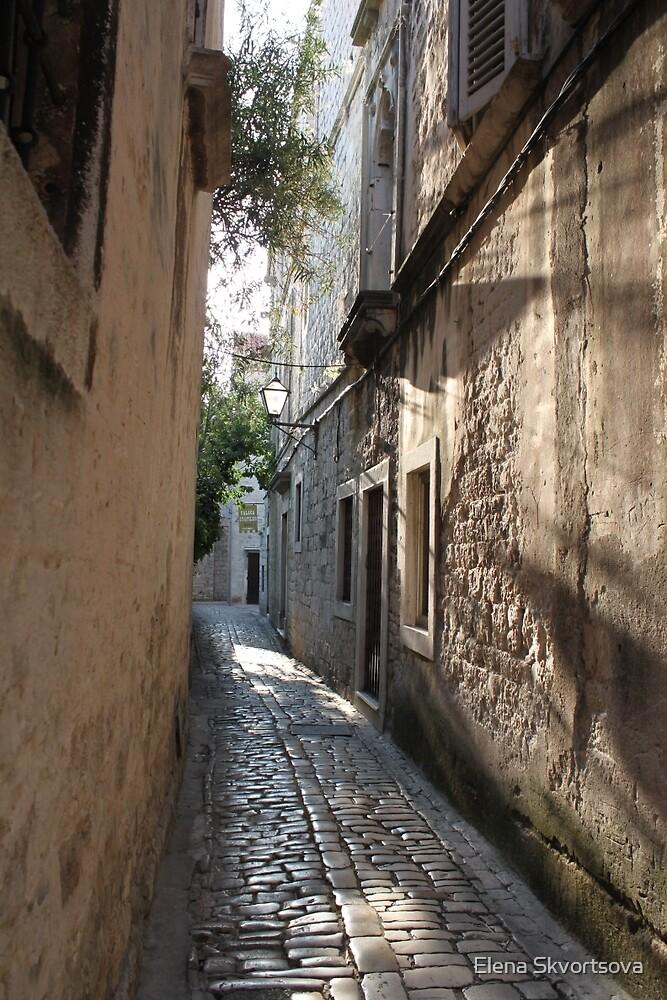 Street in Trogir by Elena Skvortsova