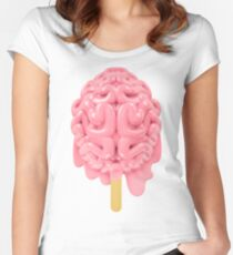 Popsicle brain melting Women's Fitted Scoop T-Shirt