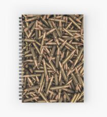 Rifle bullets Spiral Notebook