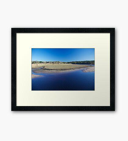 coastal lake Framed Print