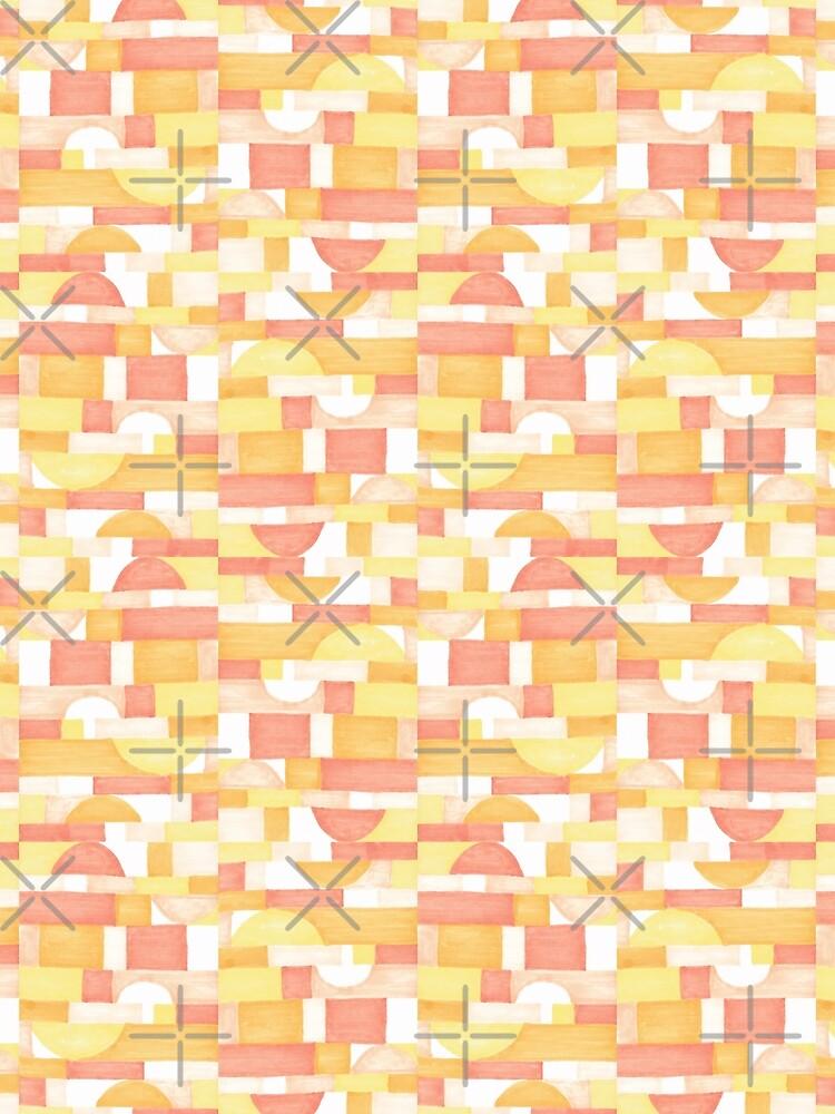 Orangeometries #redbubble #pattern by designdn