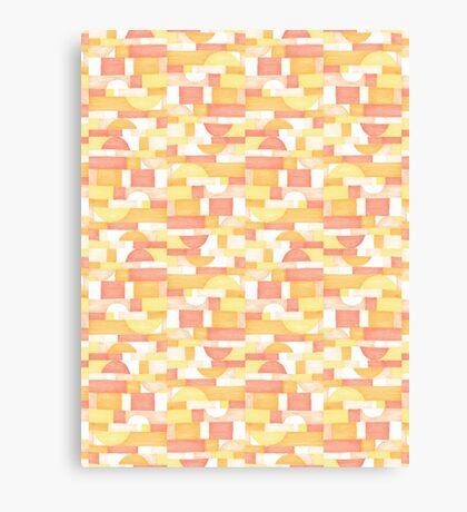 Orangeometries #redbubble #pattern Canvas Print