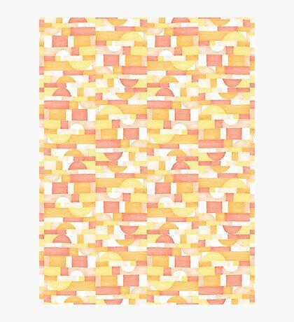 Orangeometries #redbubble #pattern Photographic Print