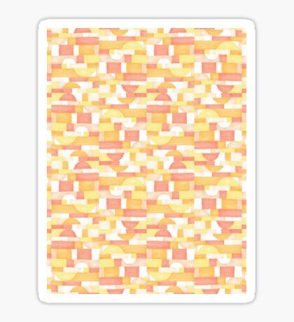 Orangeometries #redbubble #pattern Glossy Sticker