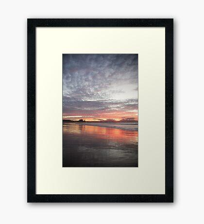 sunset in soft grey Framed Print