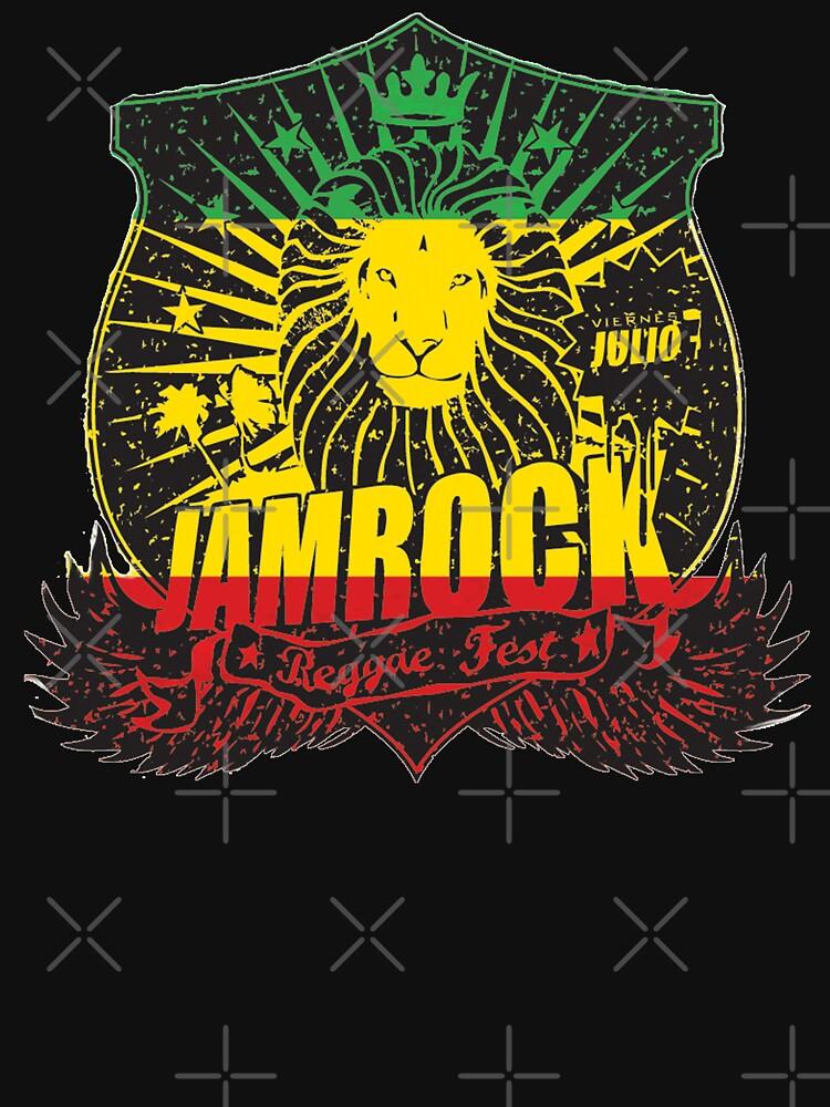 Lion Of Judah Jam Rock Rasta Ethiopian Flag Rastafarian Dreadlocks  by thespottydogg