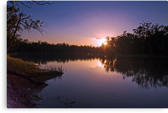 Murray River Sunset - Above Renmark, South Australia by Mark Richards