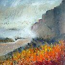 Mist on Stanage Edge by Sue Nichol