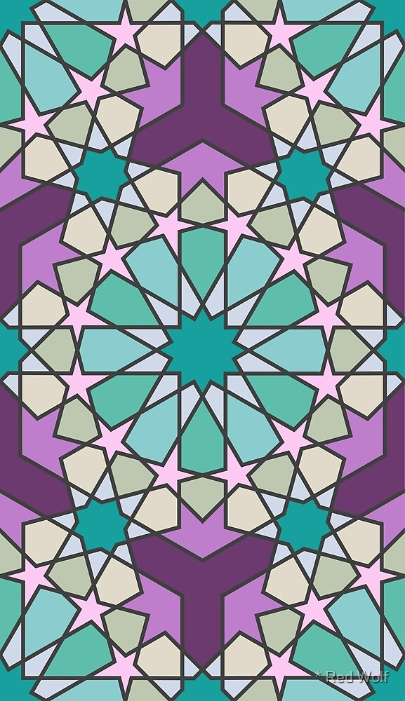 Geometric Pattern: Arabic Tiles: Summer by * Red Wolf