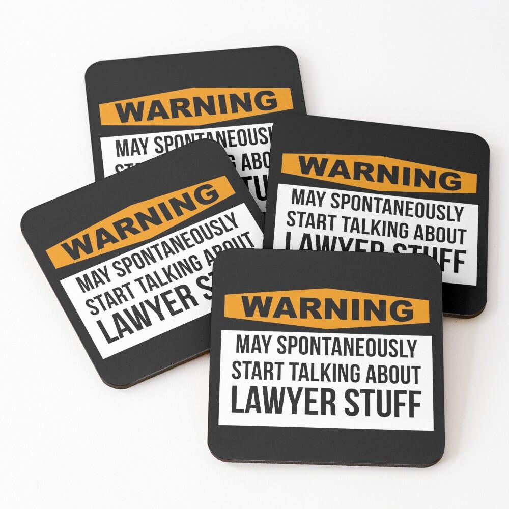 Lawyer Coasters (Set of 4)