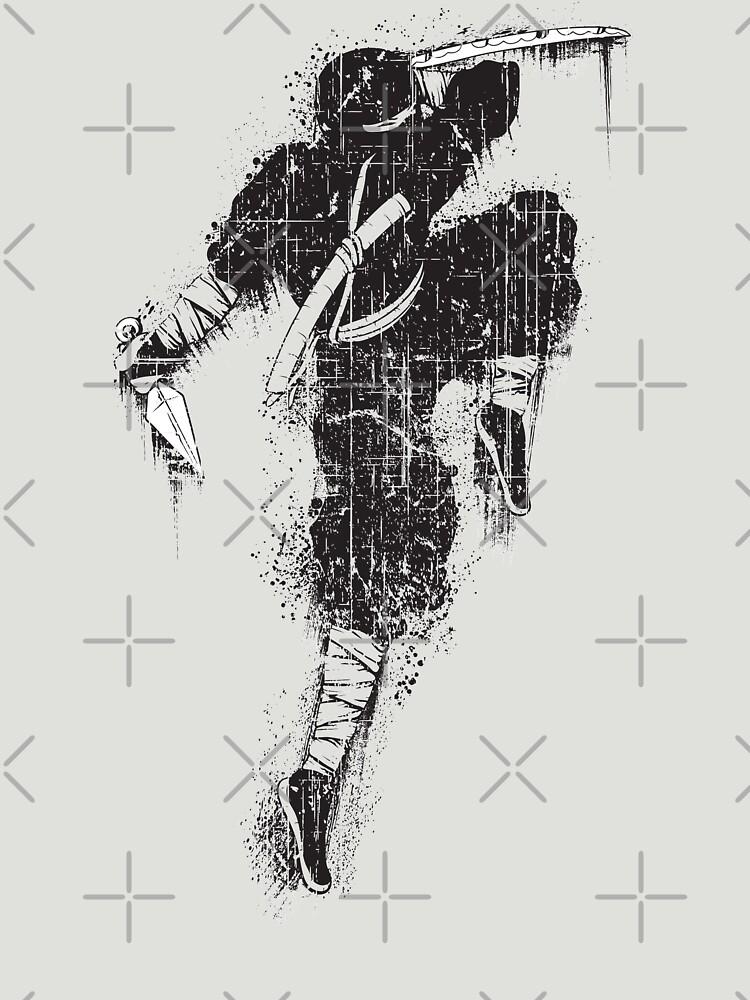 Ninja Swords Shinobi Japanese Print by thespottydogg